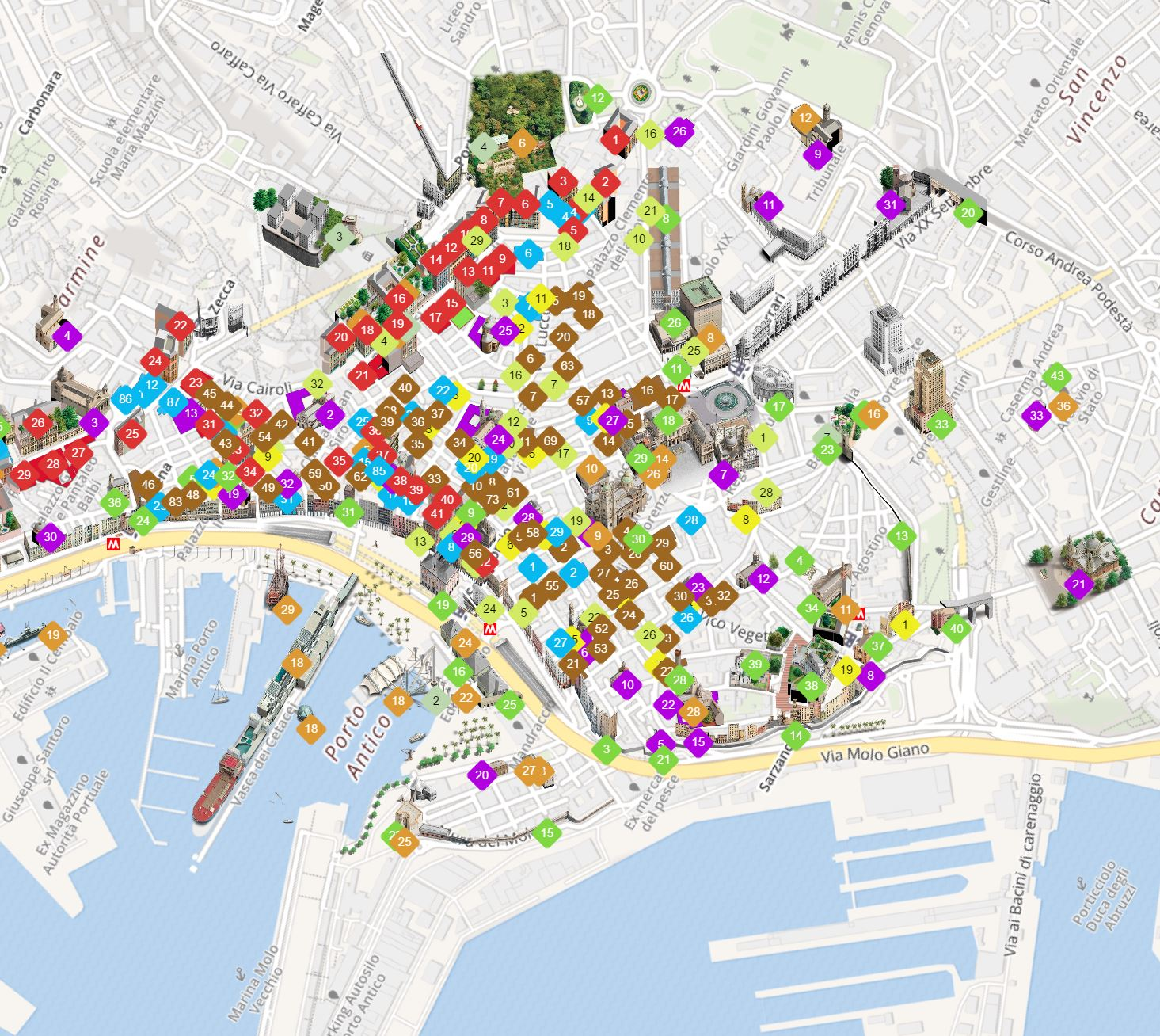 rolli days 3d map discovery genova